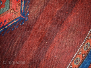"""#1B176 Turkish """"Kermanar"""" rug 4.10' x 6.3' c.1860, in original good condition for that age"""