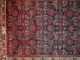 Handmade antique Persian Malayer runner 3.5' x 13.5' (108cm x 412cm) 1920s - 1C448