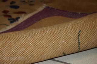 Handmade antique Art Deco Chinese rug 4' x 6.8' (120cm x 208cm) 1920s - 1B571