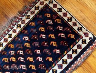 Handmade antique Persian collectible Luri bagface 1.9' x 3' ( 58cm x 91cm) 1890s - 1B603