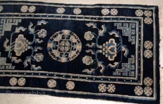 Handmade antique Peking Chinese rug 2.1' x 4.1' ( 64cm x 125cm ) 1900s - 1B617