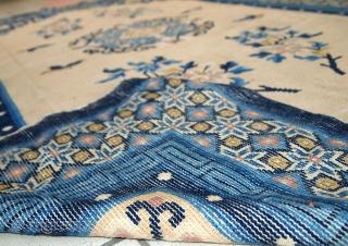 #1C275 Handmade antique Peking Chinese rug 4.2' x 6.3' ( 128cm x 195cm ) 1880.C