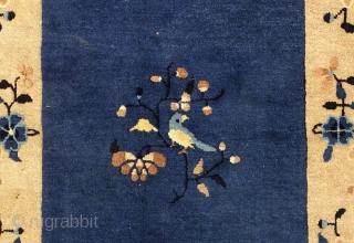 #1L19  Hand made antique Peking Chinese rug 3' x 5' ( 91cm x 152cm ) 1900.C