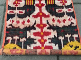 Early silk velvet ikat orginal panel in perfect condition.405 x 42 cm   www.eymen.com.tr