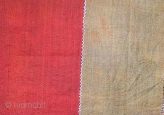 Anatolian kurdish perde with little stain 307 x 116 cm