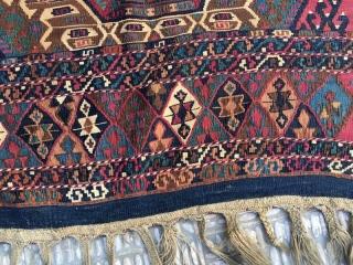 Anatolian  malatya kurdish saddle bag opened , 265 x 80 cm