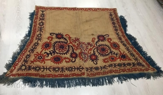 Kyrgyzstan horse cover with silk embroidery 160 x 110 cm