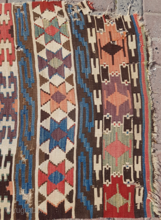 19.th century Anatolian Kilim sıze 75x300
