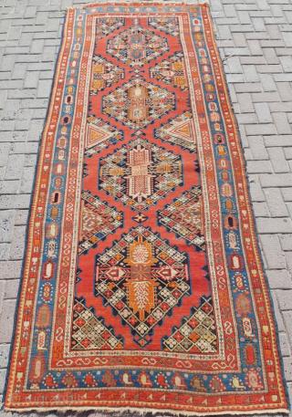 19.th century Karabag Rug sıze 123x310