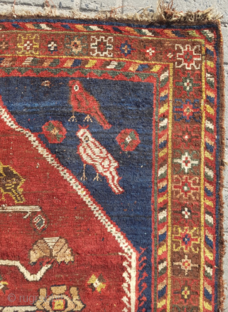 19.th century Persian Gabbeh sıze 132x162