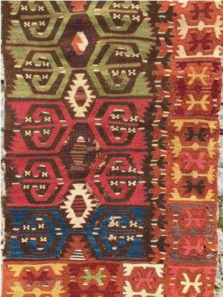 18.th century Kapadokia Kilim 76x195 cm