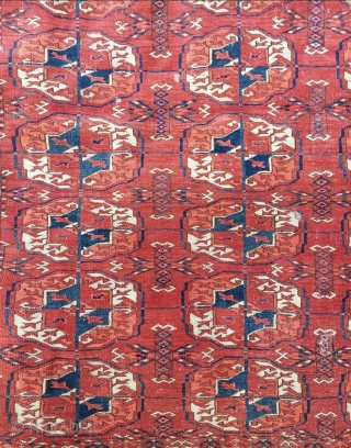 19th. Century Tekke wedding Rug size: 128 x 141