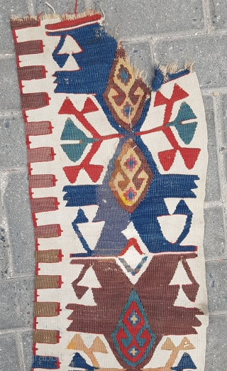 Anatolian Kilim border size 32×370
