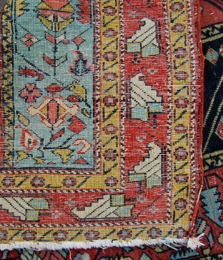 Super fine antique marasali caucasian prayer rug. 114 x 86cm. Needs a clean and some repairs to the ends.
