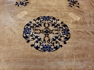 Elegant old Peking living  size cm 450*340 +- to save your parquet with nice 1940'honest handmade  just professionally washed some areas used - Sold Thanks