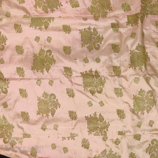 Vintage fine quality real golden zari kinkhab  Angarakha from Lucknow city of Uttar Pradesh India 1900C. on silk baby pink colour the Angarakha is in very good condition.