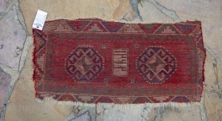A Kazak Mafrash panel measuring 1.7 x 3.2 FT  Data is 1222 ??  but based on experience it looks too have been woven 2nd half of the 19th century.  A rare and unique  ...