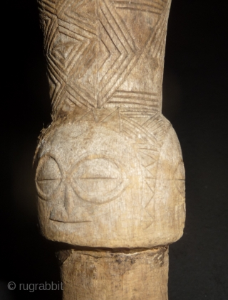 a beautiful and unusual songye wooden carving, seems to have a good age for an african artefact . approximately 30cm high. Democratic Republic of the Congo