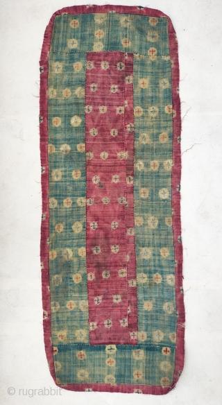 tibet, beautiful nambu monastic bench cover.all wool 19th c.