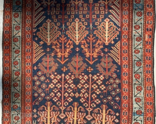 fantastic early northwest persian kurdish rug 268x 114cm