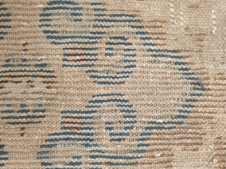 ming dynastie rug, not ningxia.. design and chromaticity obviously related to some example found in the litterature and which have been attributed to the 16th century. a survivor of an extremly rare group  ...