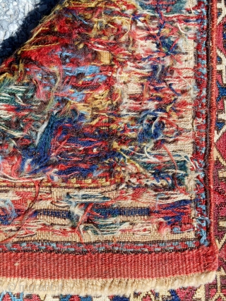 19th c. Shahsavan sumak bagface in excellent condition. Extraordinary color range.