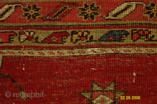 """Small central Anatolian prayer rug from the turn of the century. (i.e. Dimensions 3'2"""" X 3'9"""" )"""