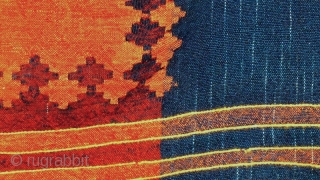 """How difficult it is to be simple."" - Vincent van Gogh 'Shadda' kilim, Azerbaijan, 20th century, perfect condition. Wool on wool with different warps, what gives a multiplied transparency effect to the  ..."