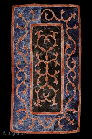 """The most beautiful thing we can experience is the mysterious. It is the source of all true art and science."" Albert Einstein Avar felt carpet, 19th century, Caucasus / Daghestan ... One  ..."