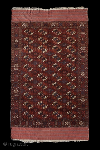 """There is geometry in the humming of the strings, there is music in the spacing of the spheres."" Pythagoras Tekke main carpet, mid. 1800's. Shining in its full glory. Some old restoration  ..."