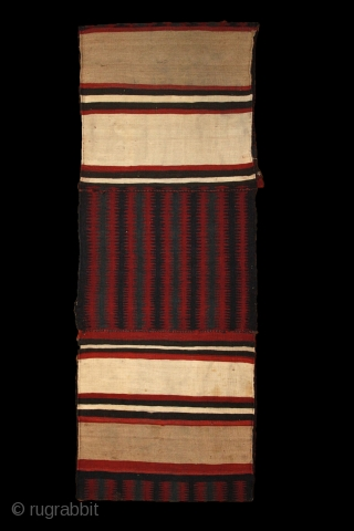 Caucasian camel bag, most probably from Bordjalu area, 19th century, wonderful contemporary-like drawing, just like an op-art painting, all natural colours, soft wool and very fine weave with soft handle. 1 old  ...
