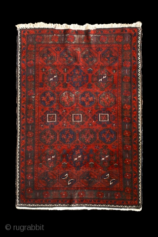 """Gurbaghe"" baluch rug, North-east Persia, Khorassan area, around 1900. more beauties: http://rugrabbit.com/profile/5160"