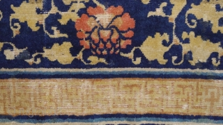 """""""Water surrounds the lotus flower, but does not wet its petals."""" - Gautama Buddha, Ningxia carpet, ca. 17000 .... wool pile on cotton warps & wefts,super soft, floopy handle. A pleasure for the  ..."""