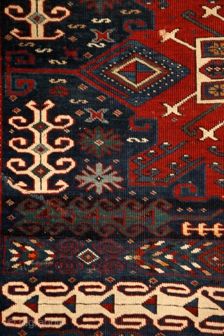 """""""When i have a terrible need of - shall i say the word - religion. Then i go out and paint the stars."""" Vincent Van Gogh Kuba rug with unusual design, 19th  ..."""