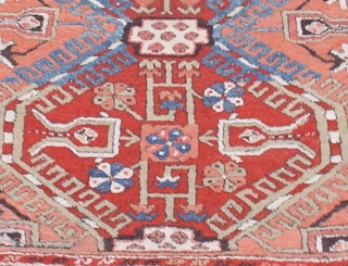 KonyaAnatolian. 19th C. (2nd Half)This rug with a distinctive apricot field is from the area around Konya in central Anatolia. Its thick wool and larger knots may indicate that it was woven  ...