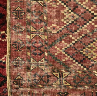 Ersari group chuval....pristine apart from one small old re-weave..thick, heavy and meaty pile..a beautiful, lush textile..last quarter 19th century...108x167cms