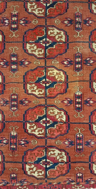Classic 19th century Tekke dowry (wedding) rug  Excellent condition save for one small patch in the top left corner