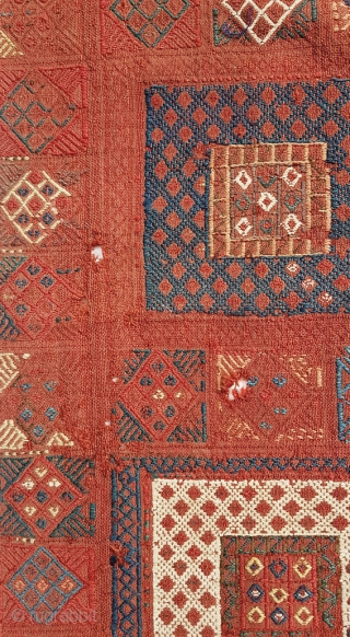 Antique Verneh Kilim fragment (right panel) Some wear (see photos) Wonderful colors Size: 280x100cm