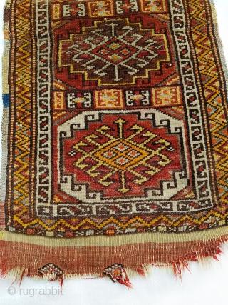 Beautiful north west Anatolian (Canakkale) yastic circa 1930-40s feauring Memling gul pattern Size: ca 79x40 cm
