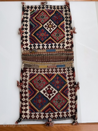 A very nice Shahsavan Kelim bagface about 100 years,size:65x28 cm,in perfect condition,%100 Naturall Dyes.