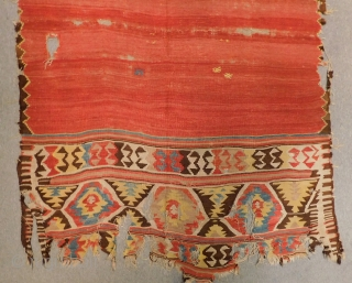 Early 19th Century West Anatolian  Kilim Size.270x140 Cm