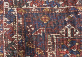 Antique Persian Shiraz Bagface Size.75x62 Cm
