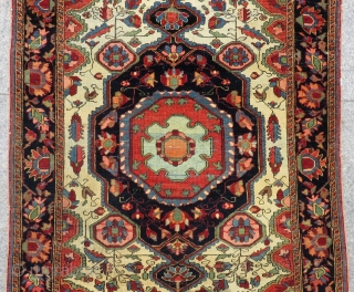 Antique Persian Sarouk Small Rug Circa 1880 All Colours Natural Size.160x100 Cm