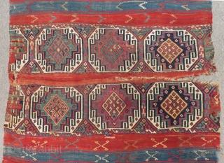 Second 19th C East Anatolian Malatya Chuval Size.180x110 Cm