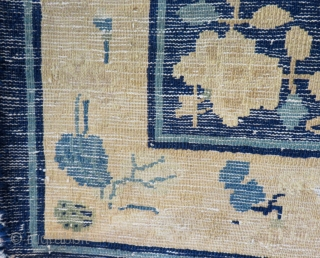 Antique China Bag face rug Size.96x90 Cm