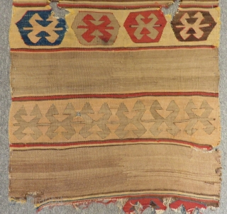 Early 19th C Anatolian fragment Kilim Size.107x65 Cm