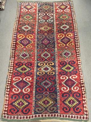 Mid 19th Century East Anatolian Rug Size.215x115 Cm