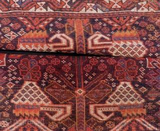 Antique Persian Shiraz Bag face Size.88x77.88x80 Cm