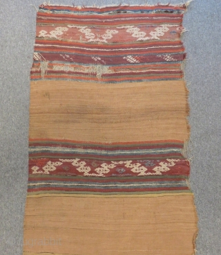 Mid 19th Century Anatolian Striped Kilim One Part Size.370x90cm