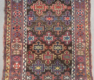 Antique Persian Kurdish Rug Circa 1880.90 Size.250x100 Cm